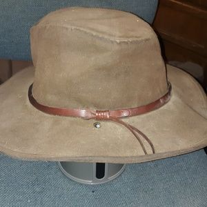 Vintage Genuine Leather Texas Cowboy Hat